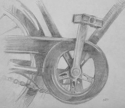 Art Print featuring the drawing Bike Pedal by Michele Engling