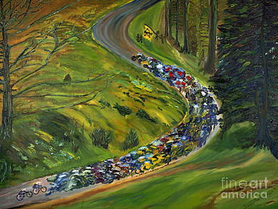 Painting - Bike Race Belgium Arden Spring Classics by Gregory Allen Page