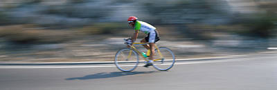 Bike Racer Participating In A Bicycle Art Print by Panoramic Images