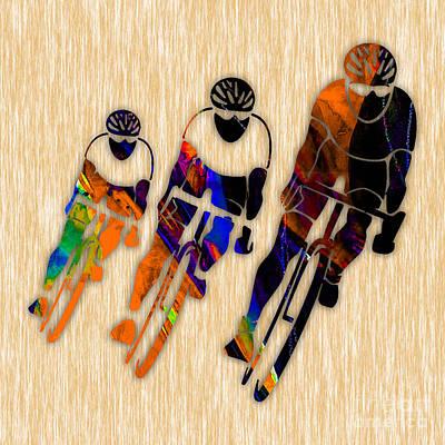 Bike Racing Art Print by Marvin Blaine