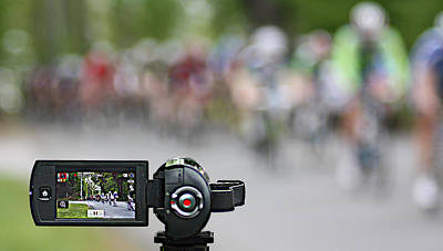 Photograph - Bike Racing by Pat Moore