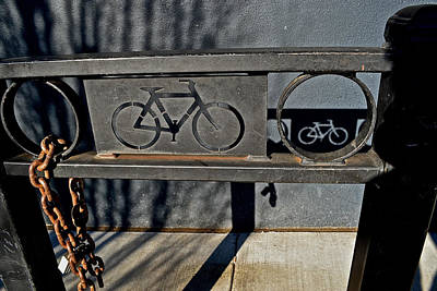 Photograph - Bike Rack by Bill Owen