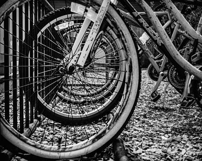 Bike Rack Art Print by Steve Stanger
