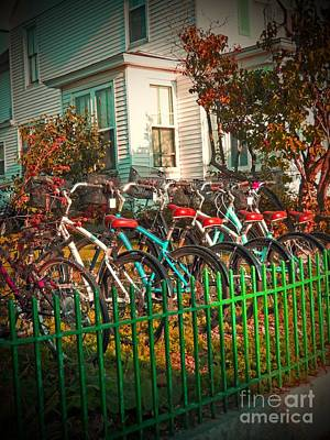 Photograph - Bike Rack Streetside by Desiree Paquette