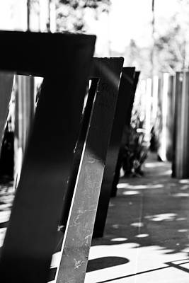 Photograph - Bike Racks by Carole Hinding