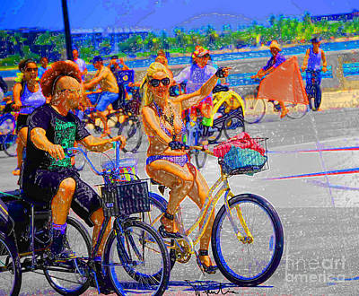 Digital Art - Bike Ride II by Art Mantia