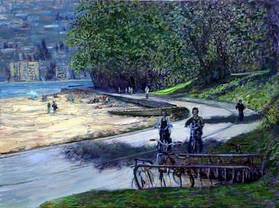Bike Ride In Stanley Park Original by Stephen Dobson