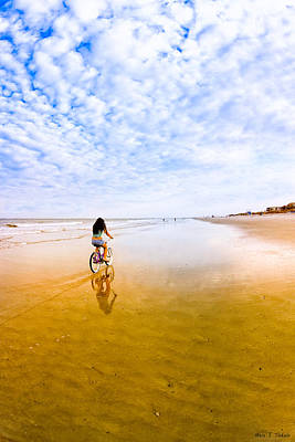 Lady Ga Ga Photograph - Bike Ride On The Beach At Tybee Island by Mark E Tisdale