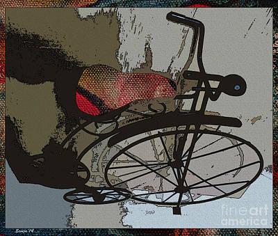 Bike Seat View Art Print