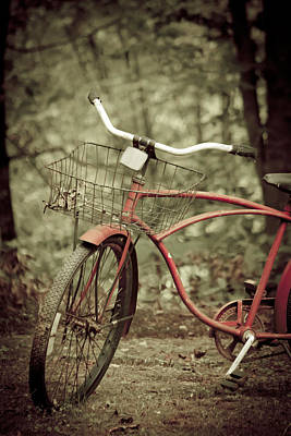 Basket Photograph - Bike by Shane Holsclaw