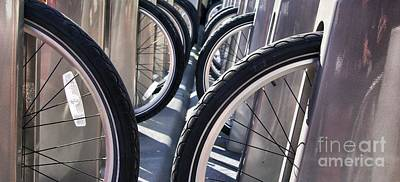 Photograph - Bike Share Tires by John S