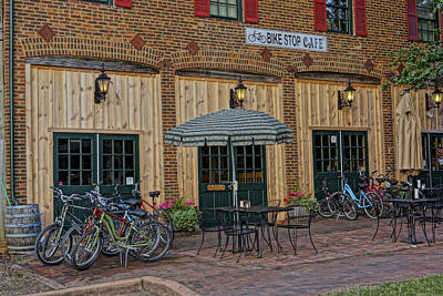 Bike Shop Cafe Katty Trail St Charles Mo Dsc00860 Art Print