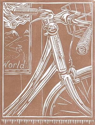 Bike Shop Window Art Print by Jennifer Harper
