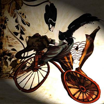 Digital Art - Bike by Theda Tammas