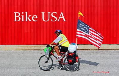 Bike Usa Art Print