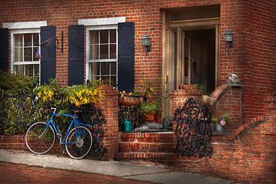 Photograph - Bike - Waiting For A Ride by Mike Savad