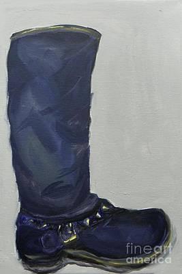 Painting - Biker Boot by Marisela Mungia