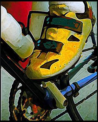 Painting - Biker Boy Foot by Dale Moses