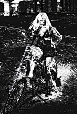 Photograph - Biker Chick by Kevin Cable