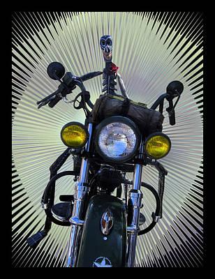 Dia De Los Muertos Photograph - Biker From The Past by Kurt Van Wagner
