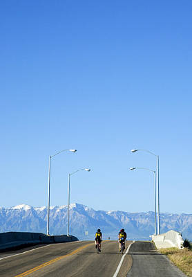 Photograph - Bikers At Great Salt Lake by Bob Pardue