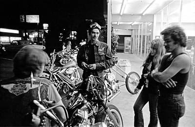 Van Nuys Boulevard-001-29 Bikers At June Ellens Original by Richard McCloskey