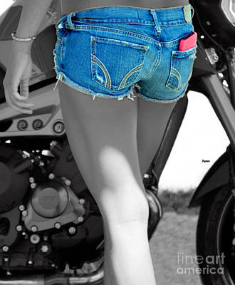 Bikers Blue  Print by Steven  Digman
