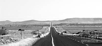 Bikers On Route 66 Art Print by Alex Cassels