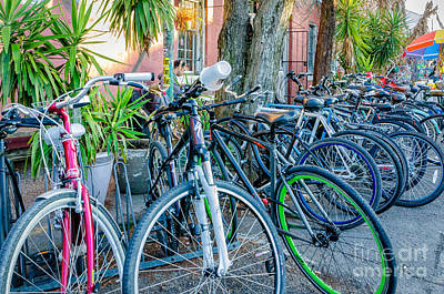 Photograph - Bikes And A Go Cup by Kathleen K Parker