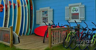 Photograph - Bikes And Boards by Bob Sample