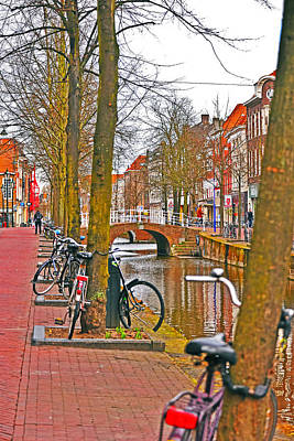 Photograph - Bikes And Canals by Elvis Vaughn