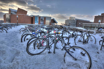 Two Wheeler Photograph - Bikes At University Of Minnesota  by Amanda Stadther