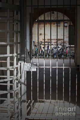 Photograph - Bikes Behind Bars by Terri Waters