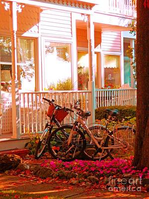 Photograph - Bikes In The Yard by Desiree Paquette