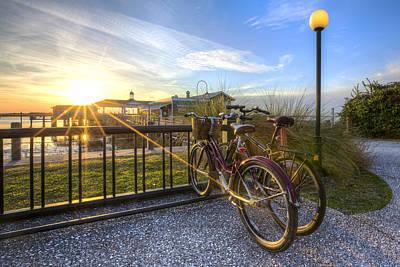 Photograph - Bikes On Jekyll by Debra and Dave Vanderlaan