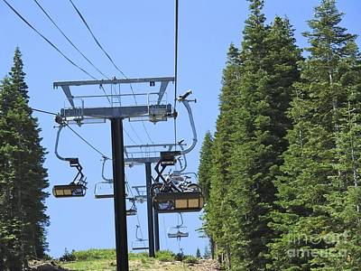 Photograph - Bikes Taking The Chairlift by Phyllis Kaltenbach