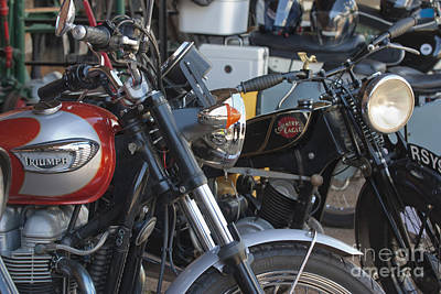 Photograph - Old Motorbikes by Terri Waters