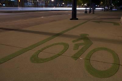 Bikes Versus Cars Art Print by Lisa Marie Pane