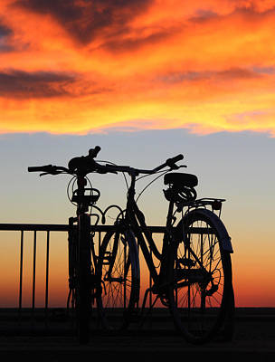 Bikes West Meadow Beach New York Art Print