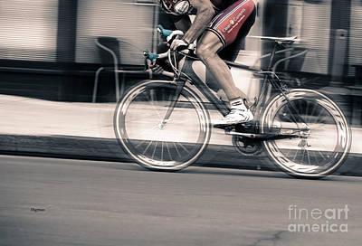 Athlete Photograph - Biking By Speed  by Steven Digman