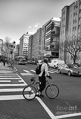 Photograph - Biking The City by John S