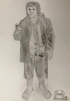 Drawing - Bilbo Baggins by Noah Burdett
