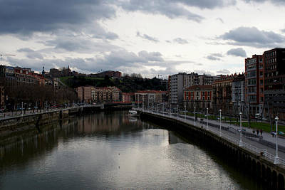 Photograph - Bilbao's River by Isusko Goldaraz
