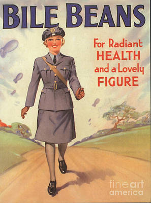 Ww Ii Drawing - Bile Beans 1940s Uk Uniforms  Ww2 by The Advertising Archives