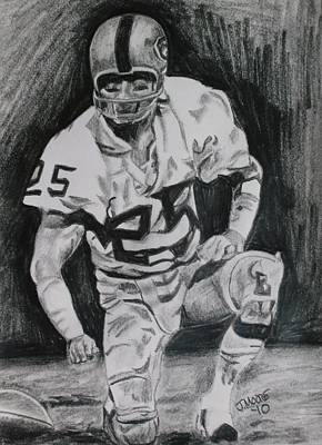Oakland Raiders Drawing - Biletnikoff by Jeremy Moore