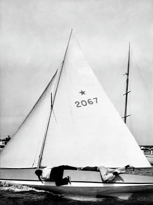 Sailboat Photograph - Bill And Sue Fricker Sailing by George Platt Lynes