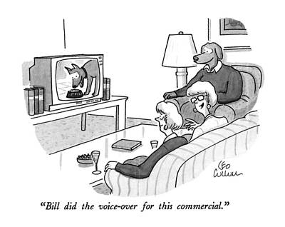 Tv Commercials Drawing - Bill Did The Voice-over For This Commercial by Leo Cullum