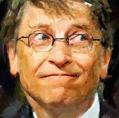 Country Side Digital Art - Bill Gates by Yury Malkov