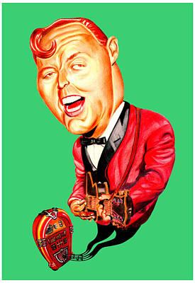 Bill Haley Art Print by Diego Abelenda