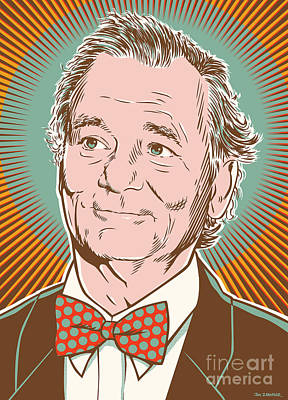 Aquatic Digital Art - Bill Murray Pop Art by Jim Zahniser